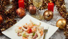 Блюда из морепродуктов на новый год