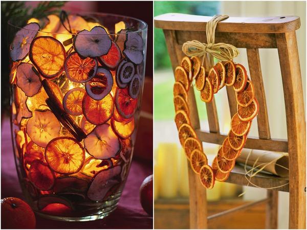сушеные апельсины для украшения дома на новый год
