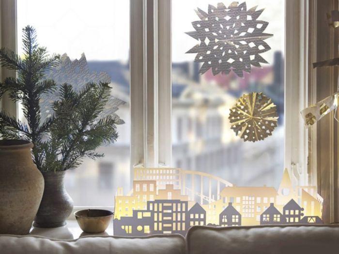 как украсить подоконник на новый год своими руками шаблоны