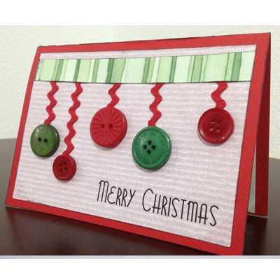 новогодние открытки своими руками из картона
