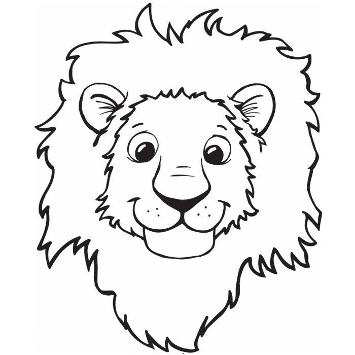 морда льва для аппликации из листьев