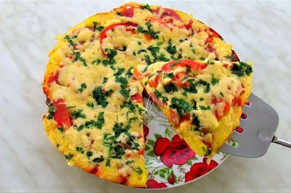 пиццца на сковородке за 10 минут быстро и вкусно