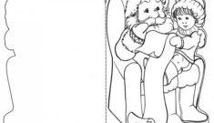 девочка дед мороз раскраска для открытки