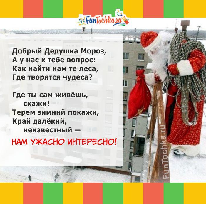 смешные стихи для детей на новый год