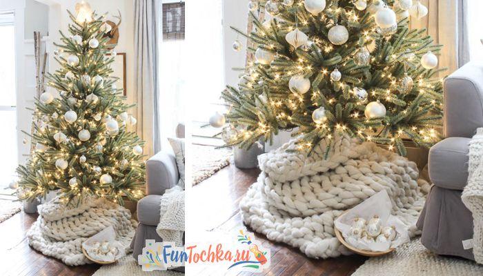 как украсить елку на новый год 2020 серебряный и белый
