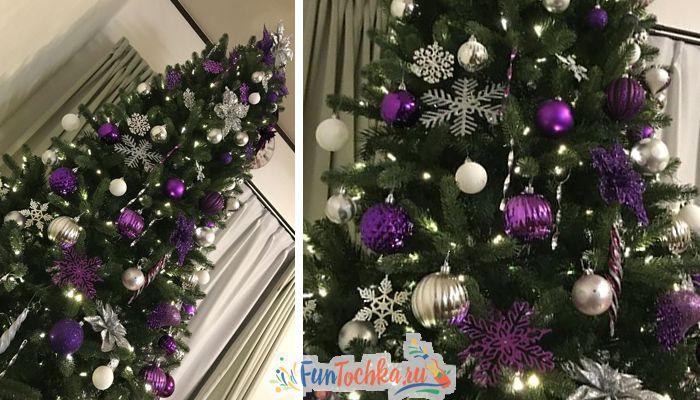 новогодняя елка фиолетовый цвет