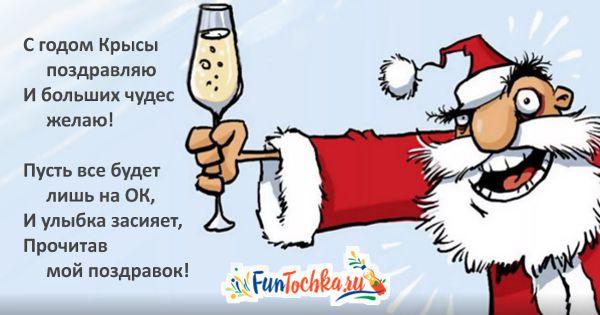 прикольные пожелания на новый год короткие картинка