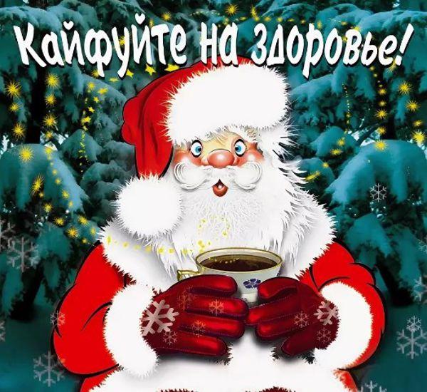 шуточные пожелания на новый год короткие и смешные картинки