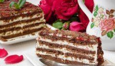 торт из печенья и творога без выпечки фото рецепт