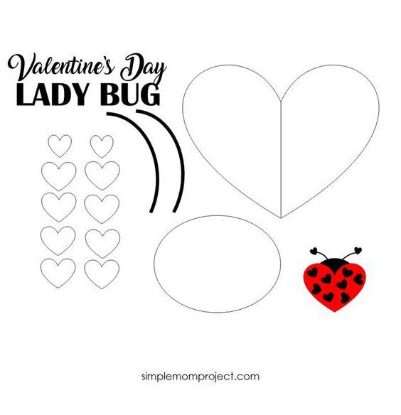 открытка ко дню влюбленных своими руками шаблон для детей